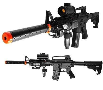 Amazon com : m16 m4 aeg airsoft rifle full / semi auto