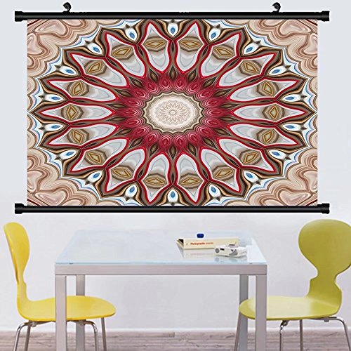 Gzhihine Wall Scroll Postermodern floral ornament mandala style raster illustration for design wallpaper print fashion ,Wall Art Paiting on Canvas 28