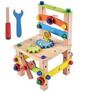 Hanbaili Assemblaggio Giocattoli Legno Vite Cool Wooden Decor Intelligence