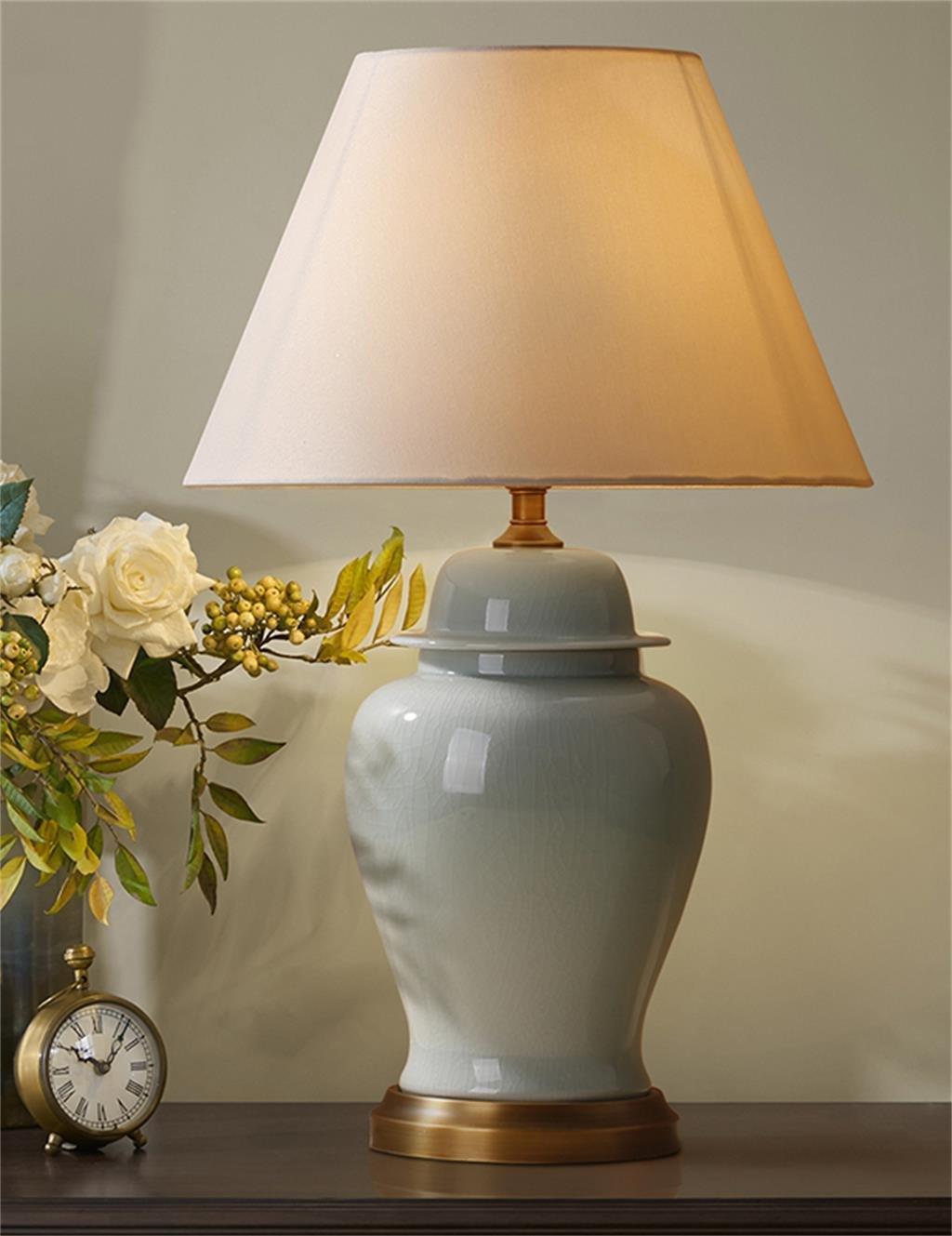Amerikanische Vertraglich Wohnzimmer Schlafzimmer Nachttischlampe aus Keramik (zwei Größen Optional) ( größe : 40 cm )