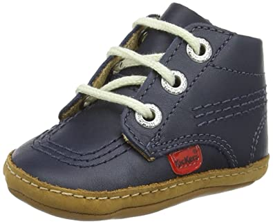 Kickers 1st Kicks B Navy Leather 4 M US Infant