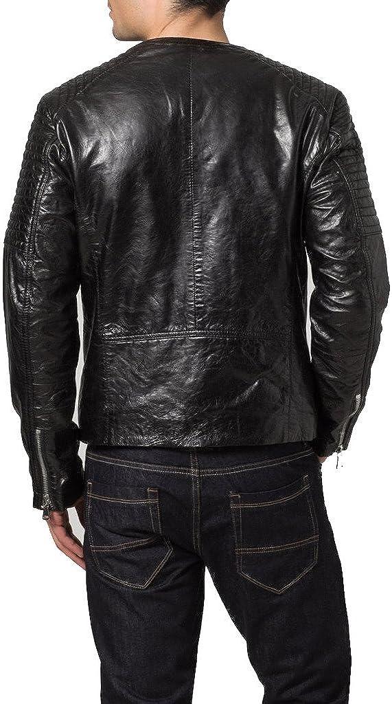 Genuine Cow Leather Mens Slim Fit Party Jacket LTC361