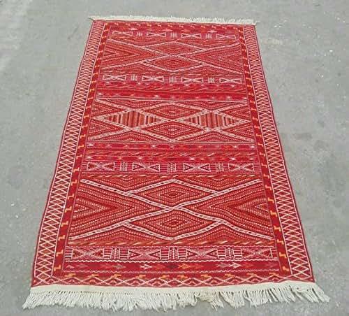 Amazon.com: Red Moroccan Rug, Red Kilim Rug, Morrocan Rug