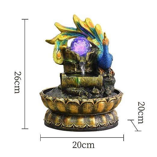 Fuente de Interior Fuentes de interior Peacock Fuente de agua ...