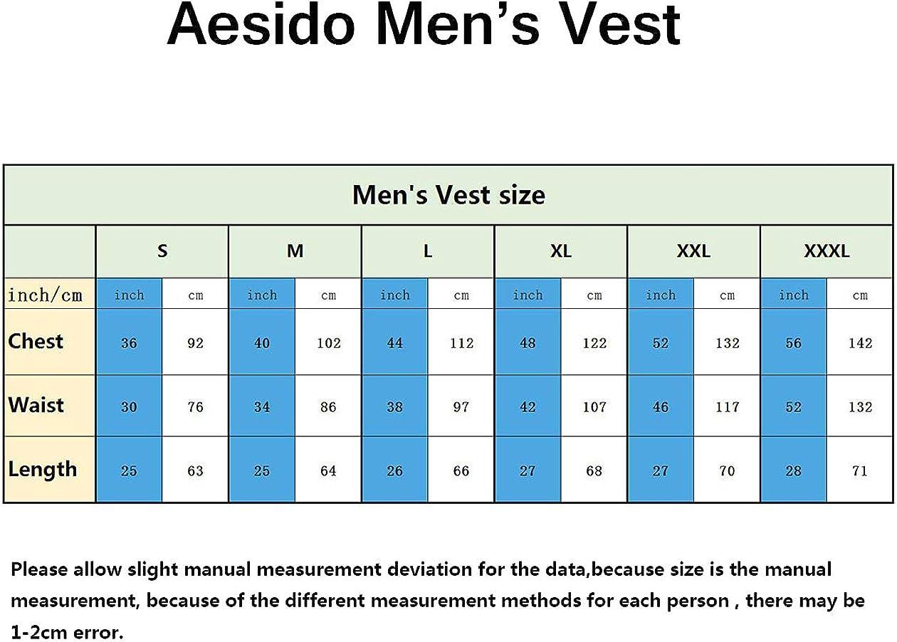 Aesido Formal Mens Vests Slim Fit Soft Wool Tweed Herringbone Business Suit Vest Waistcoat for Wedding Groomsmen