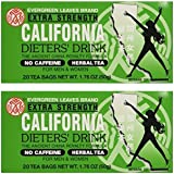 California Dieters' Drink Extra Strength Tea (Pack of 2 20-Count Boxes)
