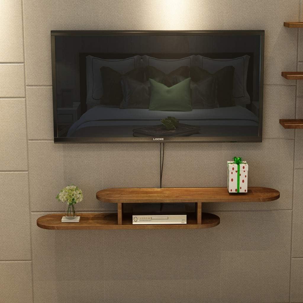 Mueble para TV de Madera Maciza de Pared Dormitorio Sala Estante de Pared Estante Flotante Estante de Almacenamiento Multimedia Consola de TV Soporte TV (Tamaño : 140cm): Amazon.es: Electrónica