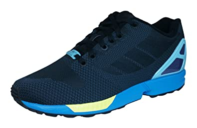 3e07a9fdf093b adidas Originals Unisex Adults  ZX Flux Weave Running Shoes Black ...