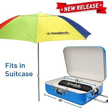 Tragbarer Reise Strand Sonnenschirm Kompakt Passt In Ihren
