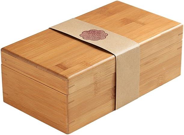 Caja artística de bambú, Caja de Almacenamiento para Joyas, para colección de Joyas, Caja de Regalo Rectangular: Amazon.es: Hogar