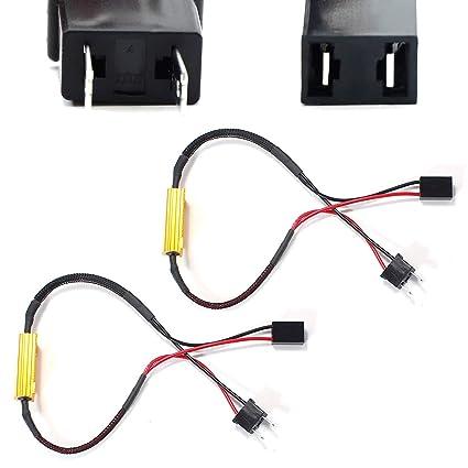 amazon com: ijdmtoy plug-n-play error free decoder wiring kit for h7 led  bulbs on fog lights or daytime running lights: automotive