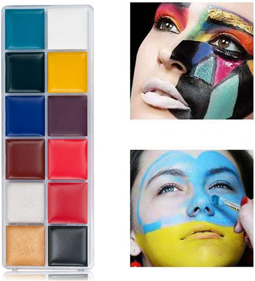 Volwco Face Paint Kit Hypoallergenic Professional Kits For Face And Body Non Toxic Cosplay Makeup Kit Body Paint Set Ideal For Halloween Party Face Painting Easy To Apply Remove