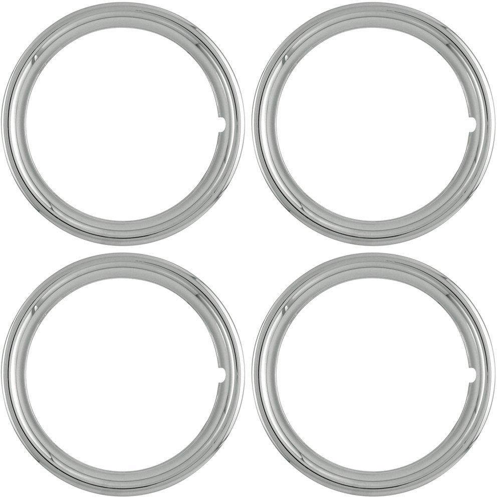 OxGord TR-14-PLCH 14 Trim Ring Set of 4