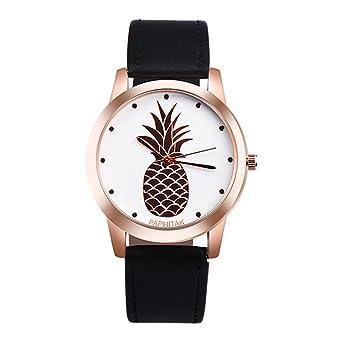 souarts Femme Montre bracelet simple style tropical Ananas or rose Couleur  Montre quary Analogique avec batterie 9a5bab2e4f0
