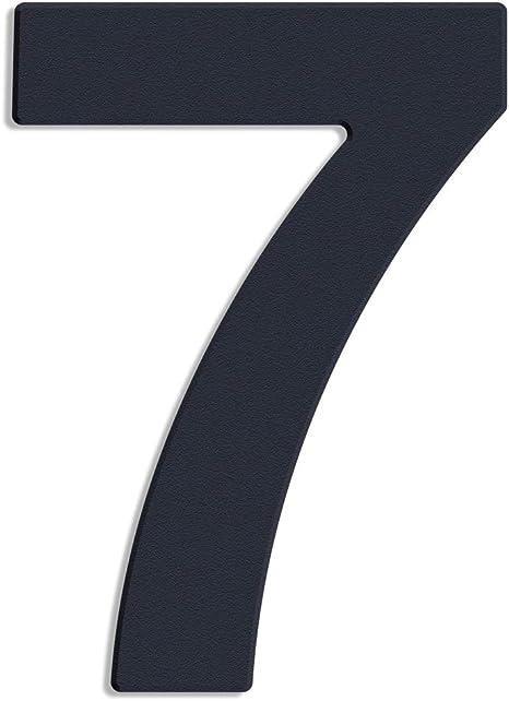 Thorwa/® Design V2A Edelstahl Hausnummer Feinstruktur beschichtet RAL 7016 anthrazit grau 30cm 8
