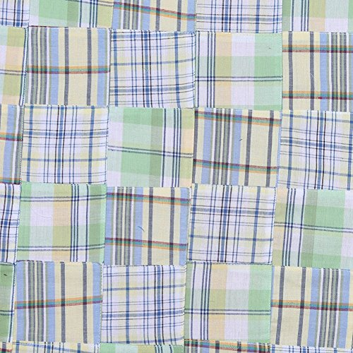 Yellow & Green Multi-Colored Patchwork Cotton (Yellow Madras)