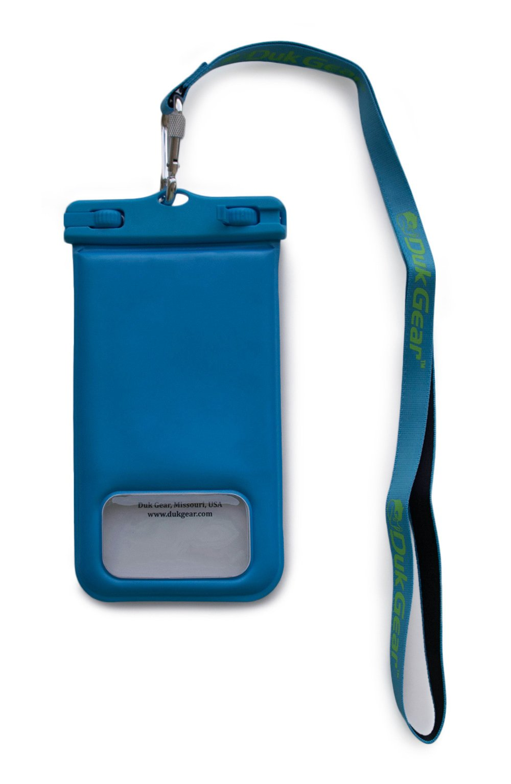 """Duk Gear DUKPouch UNIVERSAL FLOATING & WATERPROOF Cell Phone Case, Pouch, Compatible with iPhone 6, 7, X, Samsung Galaxy, Motorola, Droid, Google, Phones up to 6"""", Money, ID, Keys & more! (Blue)"""