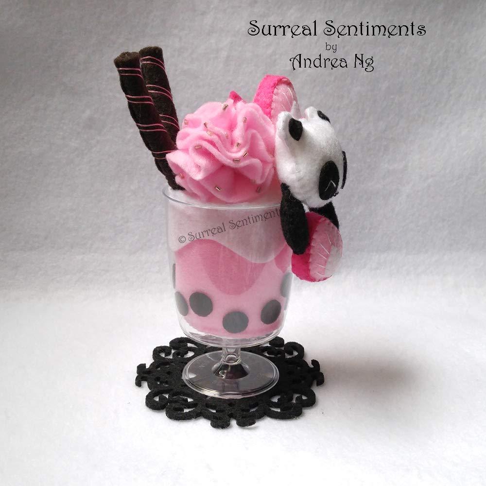 Pink Panda Tea Valentine Cute Drink Plush Strawberry Bubble Tea Panda Cup