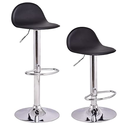 Excellent Costway Set Of 2 Modern Swivel Chrome Barstools Adjustable Hydraulic Lift Chair Bar Stool Home Diner Pu Leather Seat Multi Color Camellatalisay Diy Chair Ideas Camellatalisaycom
