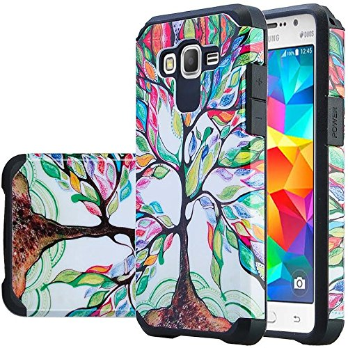 Galaxy S3 Case, Samsung Galaxy S3 [Shock Absorption / Impact Resistant] Hybrid Dual Layer Armor Defender Protective Case Cover for Galaxy S3 Case, Colorful Tree Hybrid