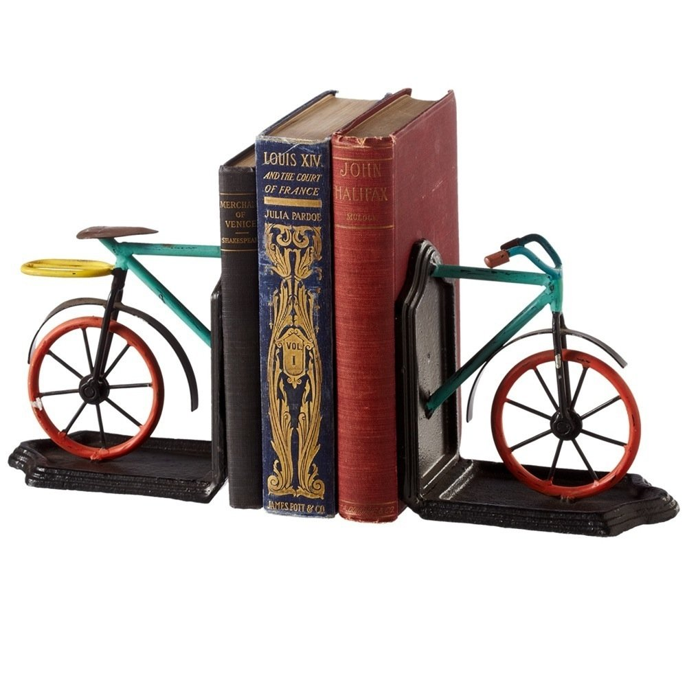 Midwest CBK Colorful Bicycles Pair of Cast Iron Bookends 10'' by Midwest-CBK