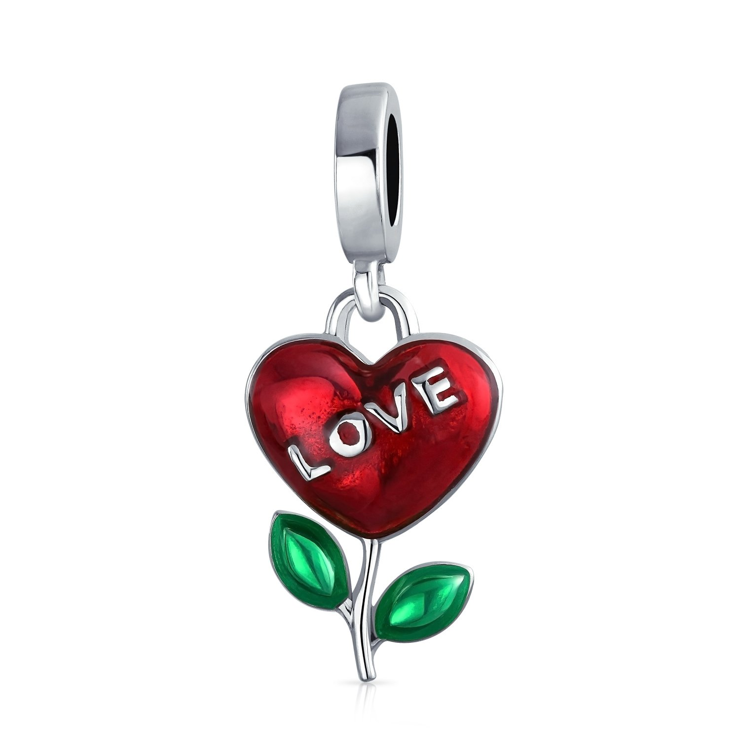 Sterling Silver Growing Flower Bead Charm
