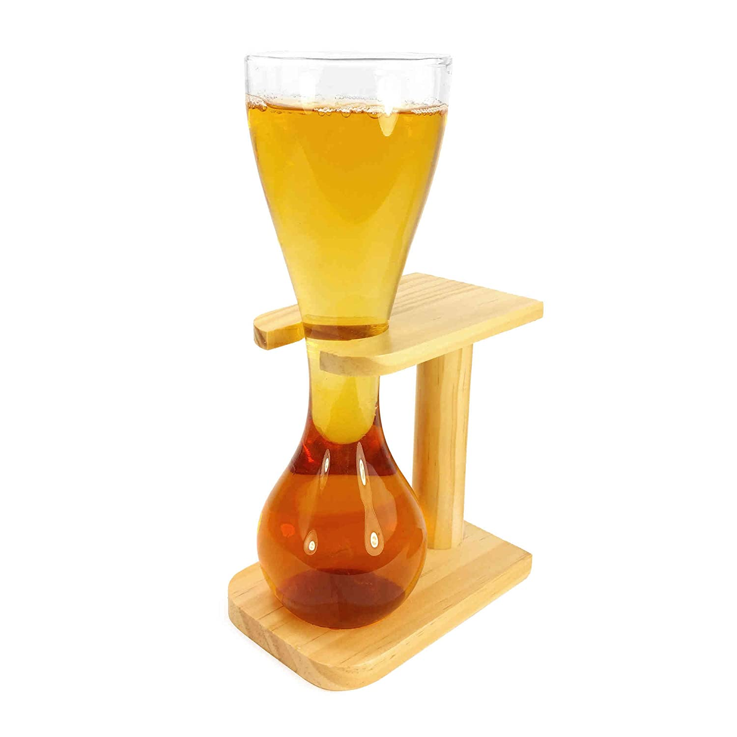 Stag Gift Novelty TUFF LUV Personalised Quarter Yard of Beer//Lager Ale with Stand Glass