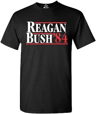 shop4ever Reagan Bush 84 T-Shirt Republican Presidential Campaign Shirts