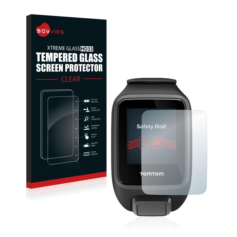 Savvies Protector Pantalla para Tomtom Spark 3 Cristal Templado Vidrio Templado: Amazon.es: Electrónica