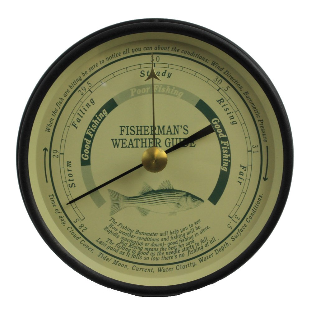 6'' Black Fisherman's Weather Guide Barometer