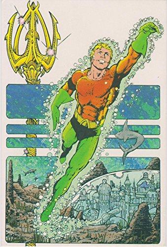 Jersey Football Authentic Aqua - Aquaman - DC Comics 1984 Comic Original Vintage Postcard