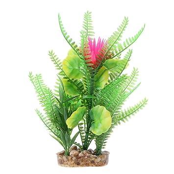 Gowind6 - Figura Decorativa para Acuario, pecera, Planta de plástico, diseño de césped: Amazon.es: Productos para mascotas