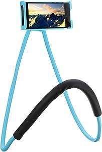 NCElec Neck Cell Phone Holder for Desk Bed,Bike and Motorcycle Phone Mount,Universal Lazy Bracket Mobile Phone Stand Holder (Blue)
