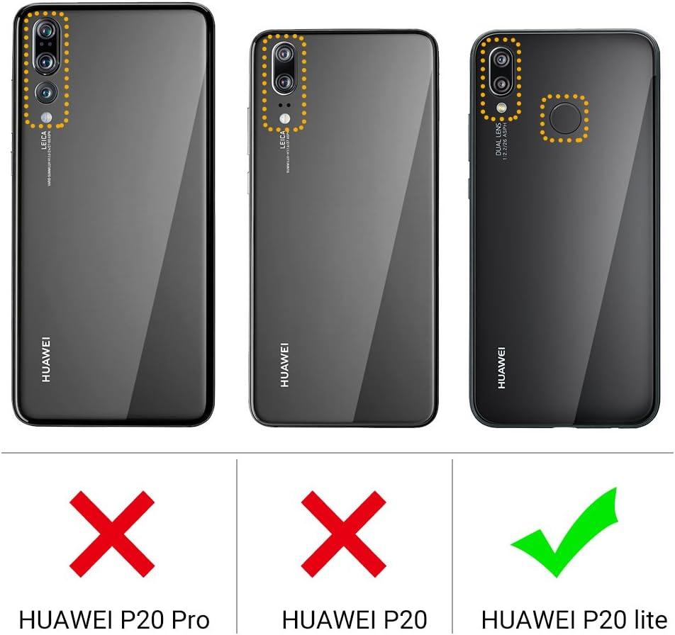 EasyAcc Huawei P20 Lite Funda, Funda de Billetera Cuero PU con Bolsillo de Tarjeta y Estuche Plegable con Soporte para Huawei P20 Lite 5.6: Amazon.es: Electrónica
