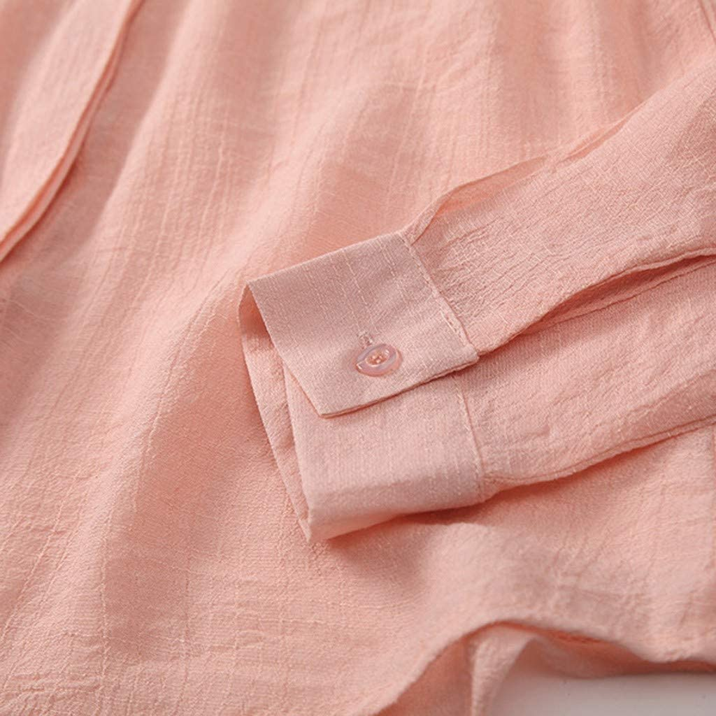 Worsworthy Camisa de Manga Larga de Color sólido para Mujer