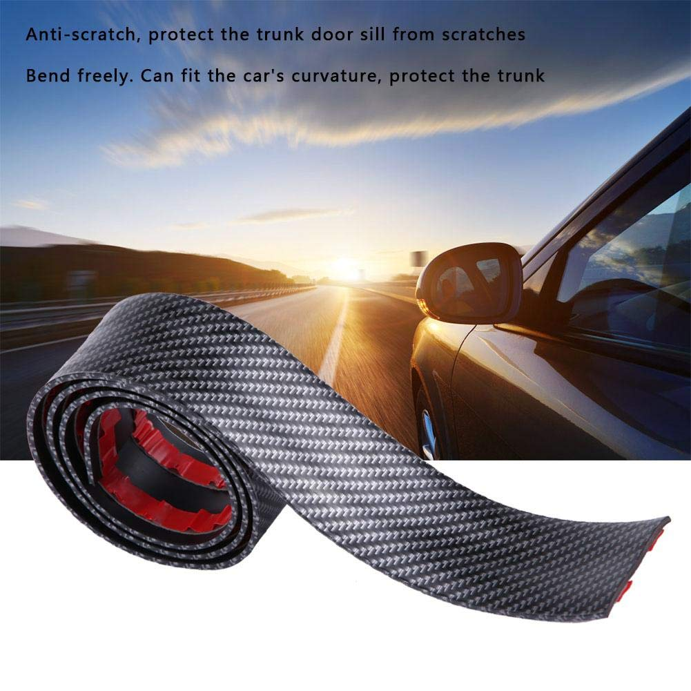 trucks SUV KIMISS Car Stickers,Universal Carbon Fiber Rubber Styling Door Sill Guards Protector for most cars 10X100 CM