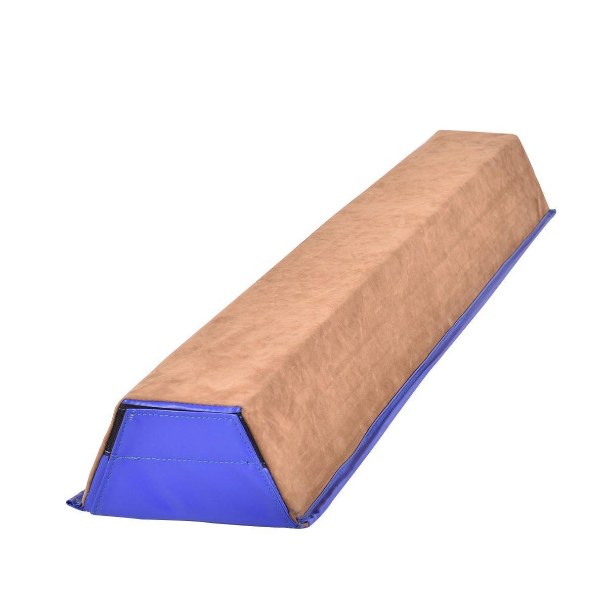 MyEasyShopping 4' Sectional Floor Trapezoid Gymnastics Balance Beam Balance Beam Sectional Trapezoid Floor Gymnastics Training 4 Folding Practice