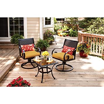 Better Homes And Gardens Englewood Heights 3 Piece Outdoor Bistro Set,  Seats 2