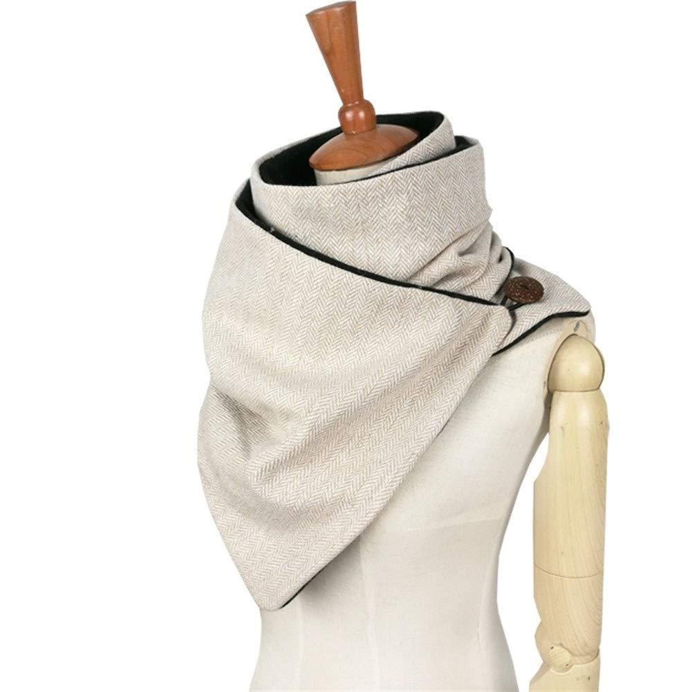 Sciarpa Invernale Moda Uomo Lana Cotone Unisex Anello A Spina di Pesce Chevron Sciarpa Donna Avvolgente Sciarpa Infinity Fatta A Mano Color : Beige
