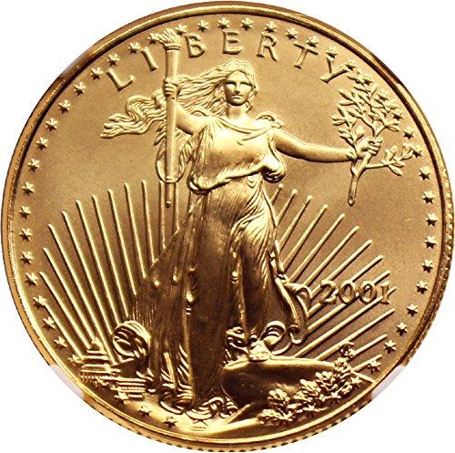2001 P $25 Gold Eagles Gold Eagle Twenty Five Dollar MS69 NGC