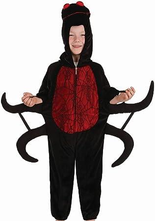 Fun Shack Negro Araña Disfraz para Niños y Niñas - M: Amazon.es ...