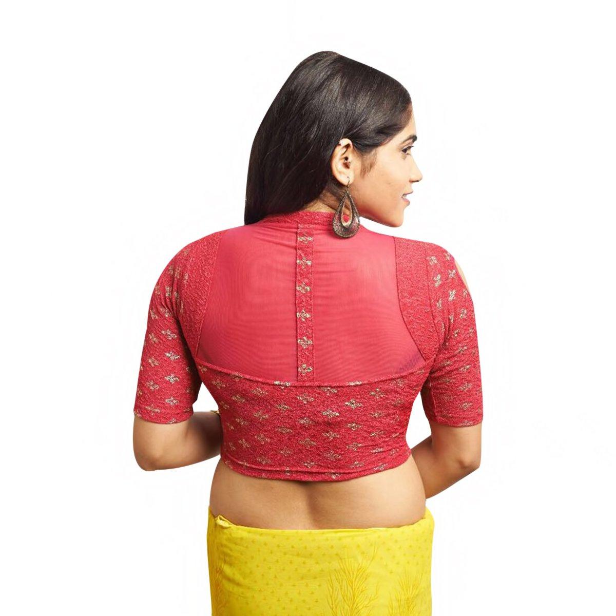 Blusa sari confeccionada en algodón de dorada Blusa sari con sari El mejor complemento para Saree Choli Crop de ETHNIC EMPORIUM (L, XL, XXL): Amazon.es: ...
