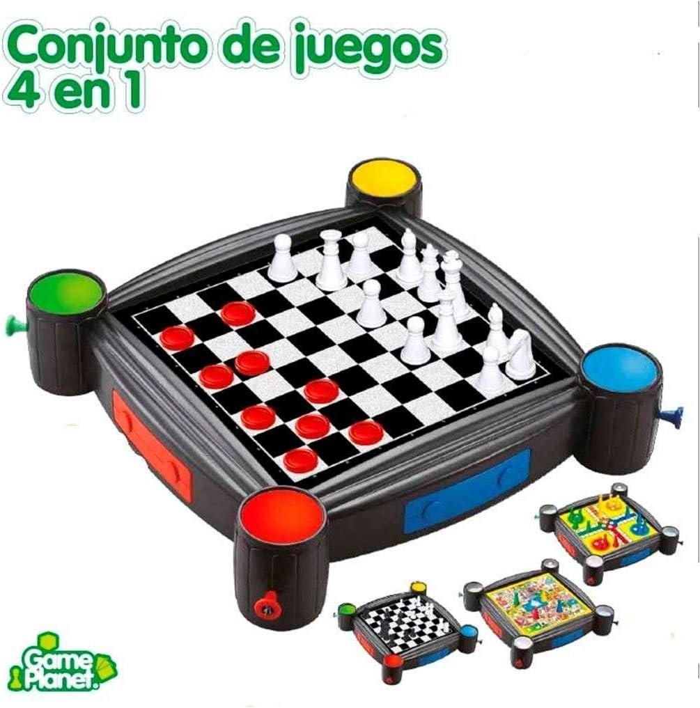 CONJUNTO DE JUEGOS 4 EN 1: Amazon.es: Juguetes y juegos