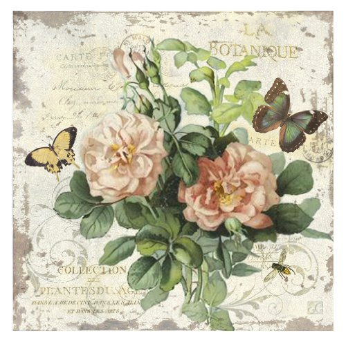 Ohio Wholesale French Floral Canvas Wall Art