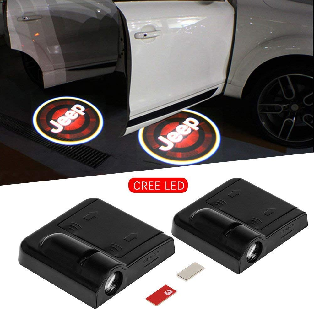 IHEX Auto 2pcs Wireless Car Door Led Welcome Light Projector Replacement for Dodge