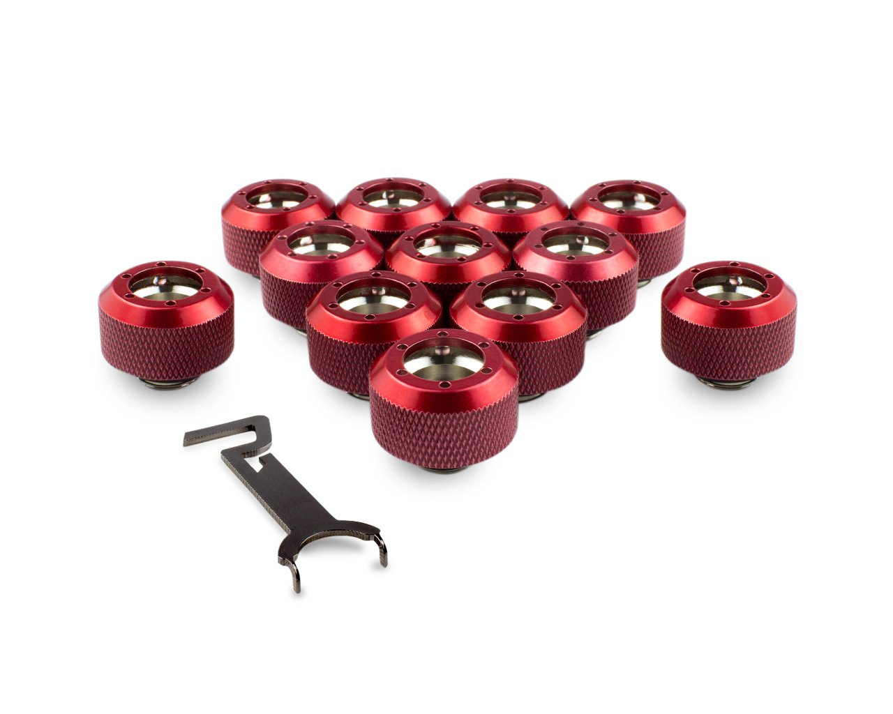 PrimoChill 1/2in. Rigid RevolverSX Series Fitting - Candy Red - 12 Pack