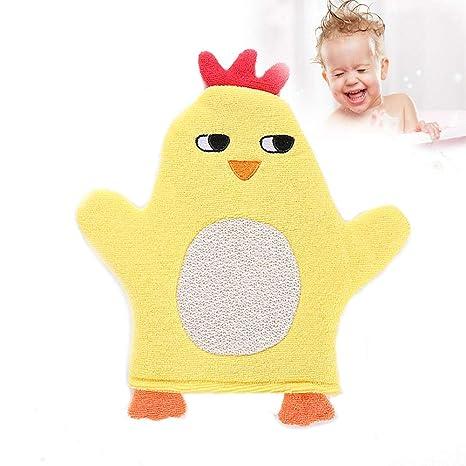 1PC linda toalla de baño suave animal de la historieta del bebé toalla de baño Ducha
