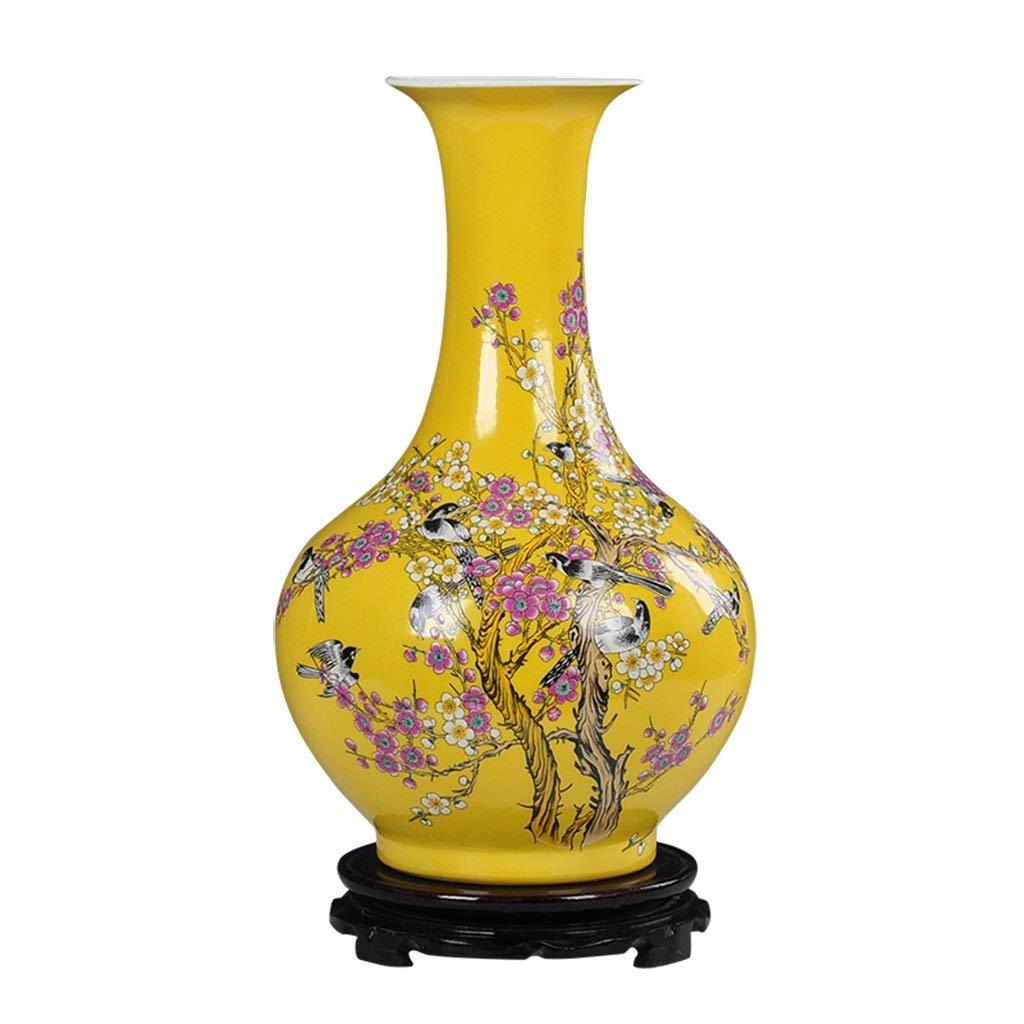 セラミック花瓶装飾中国のフラワーアレンジメントリビングルームのホームクラフト磁器の装飾品 B07SQTXBW4