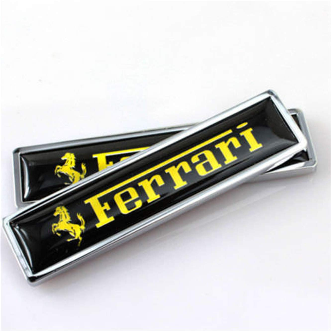 2Pcs Car Sticker Rear Side Emblem Badge Auto Accessories For Ferrari 488 ff 458