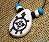 Clay Turtle Pendant - Native American Style Historic Mimbres Tribal